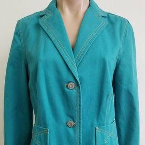 Gap Casual Blazer Career Jacket Turquoise 10